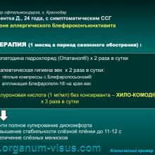 Клинический пример 1. Сухой глаз на фоне аллергического блефароконъюнктивита (dry eye, clinicalexamples). Портал Орган зрения www.organum-visus.com